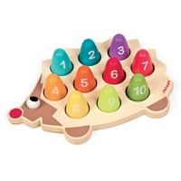 Hedgehog I Wood Counting Activity Toy