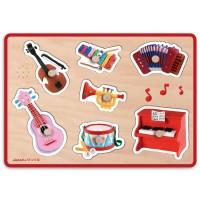 Musical Instruments Sound Wooden Puzzle -  Fleurus - Janod