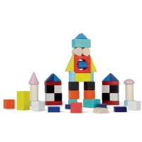 Kubix 50 pc Wooden Building Blocks Set