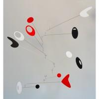 Modern Art Mobile Moving Sculpture Building Kit - Black, Red, White