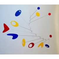 Modern Art Mobile Moving Sculpture Building Kit - Red, Blue, Yellow