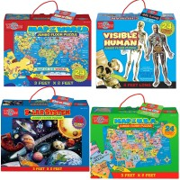 Preschool Educational 24 pc Floor 4 Puzzles Bundle