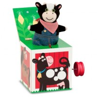 Farm Jack In the Box Wooden Activity Toy - Melissa and Doug