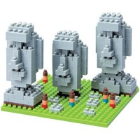 Nanoblock Building Set - Moai Statues of Easter Island
