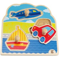On the Go Vehicles Knob Puzzle