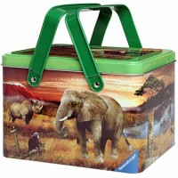 Safari Friends Animal Planet 100 pc Puzzle in a Picnic Tin