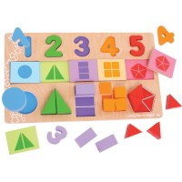 My First Fractions 25 pc Wooden Puzzle