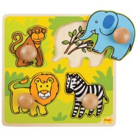 My First Wooden Peg Puzzle - Safari Animals