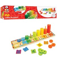 Learn to Count 55 pc Shape Sorting Wooden Board