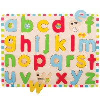 Lowercase Alphabet Inset Wooden Puzzle