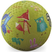 Woodland Animals 7 inch Green Play Ball for Kids