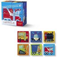 Vehicle Mini Puzzle Blocks 4 pc Set