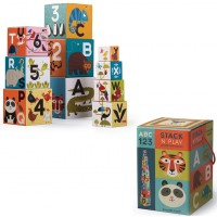 Jungle Jamboree ABC & 123 Stack n Play 10 Nesting Blocks Set