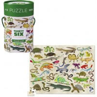 36 Reptiles & Amphibians 100 pc Jigsaw Puzzle in a Gift Canister