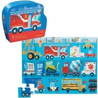 Vehicles 36 pc Jigsaw Puzzle in Shaped Gift Box