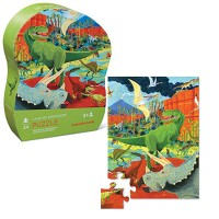 Land of Dinosaurs 24 pc Puzzle in Shaped Gift Box