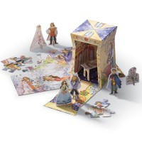 Beauty and the Beast 24 pc Once Upon a Puzzle Gift Set