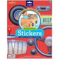 Car Pretend Play Reusable Stickers Set