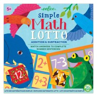 Simple Math Lotto Addition & Subtraction Game