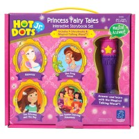 Hot Dots Jr. Princess Fairy Tales 4 Storybooks & Magical Talking Wand Interactive Set