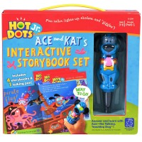 Hot Dots Jr. 4 Interactive Storybooks with Dog Pen Set