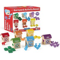 Barnyard Activity Boxes Shape and Color Sorting Set