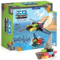 IO Blocks Vehicles 59 pc Planes and Boats Building Set