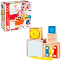 Stacking Music Cubes 6 pc Manipulative Activity Set