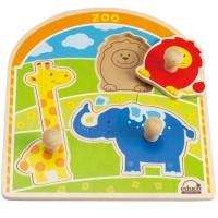 Zoo Animals Knob Puzzle
