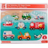 Emergency Vehicles 9 pc Peg Puzzle