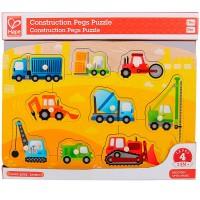 Construction Vehicles 9 pc Peg Puzzle