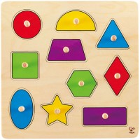 Geometric Shapes 10 pc Knob Wooden Puzzle