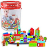 80 pc City Block Wooden Building Set