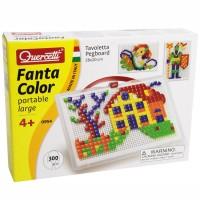 Quercetti Fantacolor Portable Large 300 pc Mosaic Pegboard