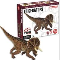 4D Puzzle Triceratops Dinosaur