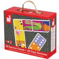 Jungle Giant Dominoes 28 pc Animal Matching Game