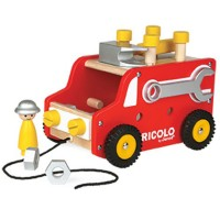 Redmaster DIY Fire Truck Wooden Tools Play Set