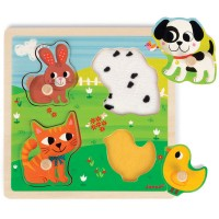 My First Animals 4 pc Touch & Feel Puzzle