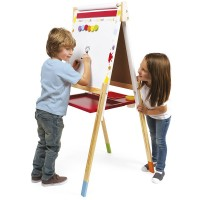Splash Double-Sided Adjustable Floor Easel with 13 Accessories