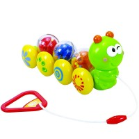 Wiggly Caterpillar Baby Pull Toy