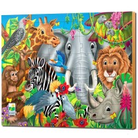 Animals of the World 48 pc Lift & Discover Puzzle