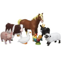 Jumbo Farm Animals 7 pc Figurines Playset