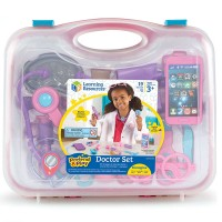 Pretend & Play Doctor Set 19 pc Pink Case