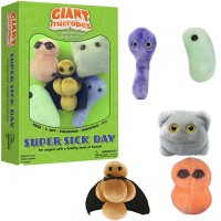 Super Sick Day 5 pc Plush Giant Microbes Gift Box
