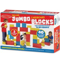 Deluxe Jumbo Cardboard Blocks 40 pc Building Set