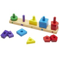 Stack & Sort Board 15 pc Wooden Learning Toy