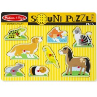 Pets 8pc Wooden Sound Puzzle