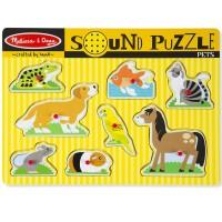 Pets 8pc Wooden Sound Puzzle