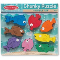 Colorful Fish Chunky Wooden Puzzle