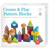 Create & Play Pattern Building Blocks 32 pc Set